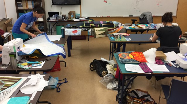 Inuvik quilters at Circles workshop