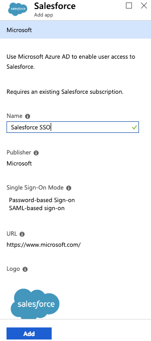 Active Directory - Salesforce Add App