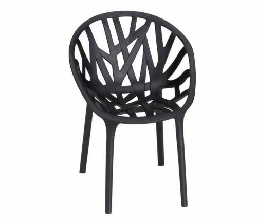 sillas de diseño vegetal negra