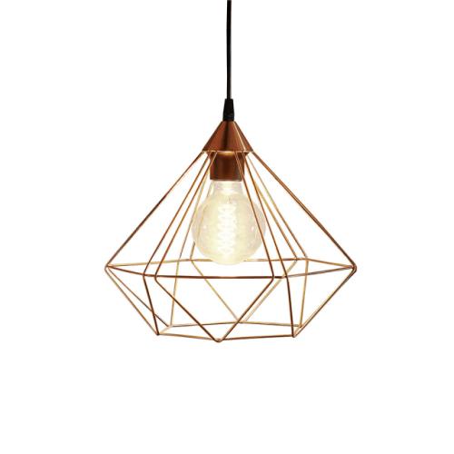 lámpara de estilo industrial geométrica