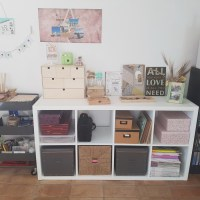 Trucos para pintar una estantería Kallax de Ikea!