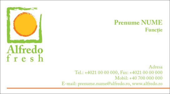 Alfredo Fresh - business card template