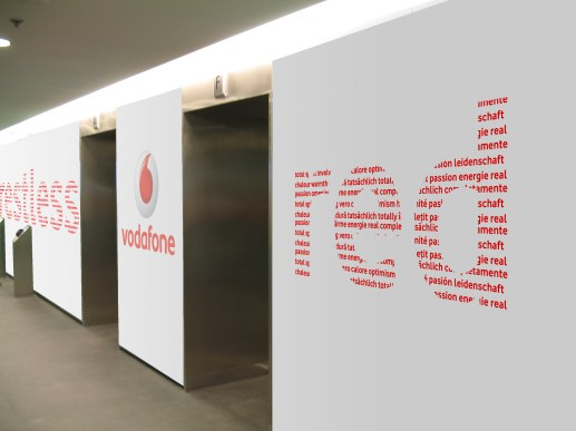 Vodafone - branding offices