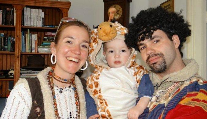 Giraf met carnaval