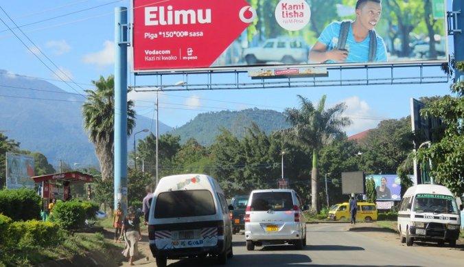 Straat in Arusha