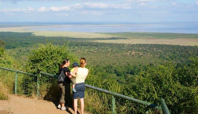 Uitizicht over Lake Manyara National Park