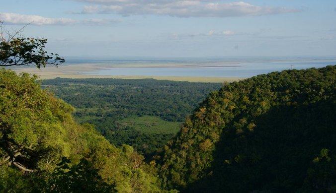 Uitzicht op Lake Manyara