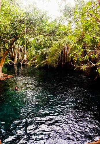 Het warme water van de Chemka Hot Springs Arusha