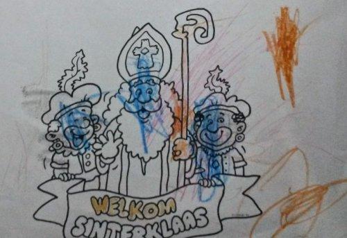 tekening Sinterklaas