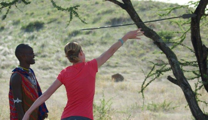Speer werpen bij Maasai Lodge