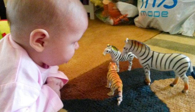 Lisan met speelgoeddiertjes