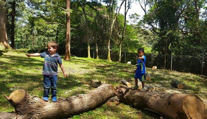 Julian met vriendje Leo spelen