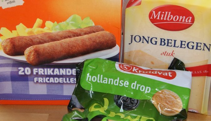 Frikandellen, drop en kaas uit Nederland