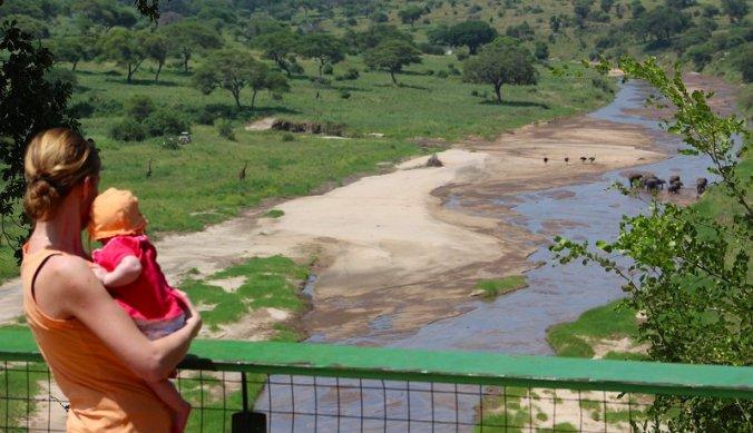 Lisan in Tarangire National Park bij de olifanten
