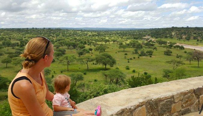 Uitzicht vanaf Tarangire Safari Lodge over de Tarangire Rivier