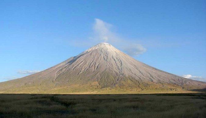 Ol Doinyo Lengai, een actieve vulkaan in Tanzania