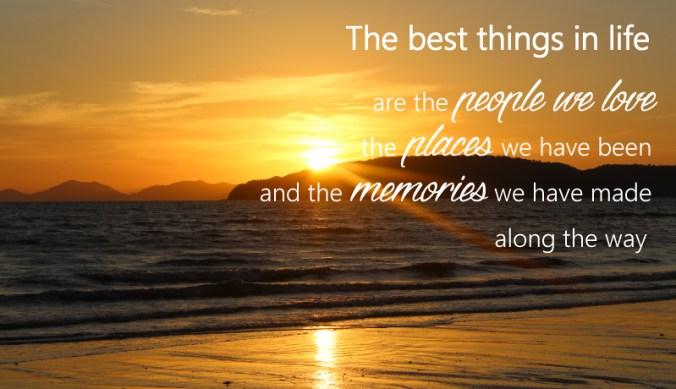 Zonsondergang quote herinneringen maken