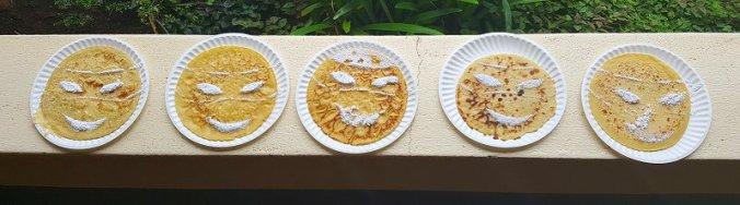 Ninja Turtles pannenkoeken op het verjaardagsfeestje