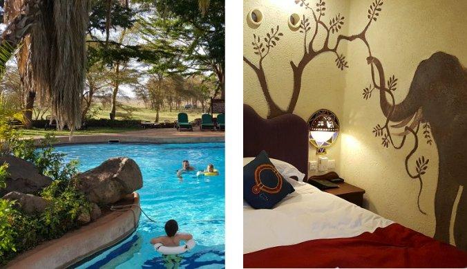 Amboseli Serena Safari Lodge zwembad en familiekamer