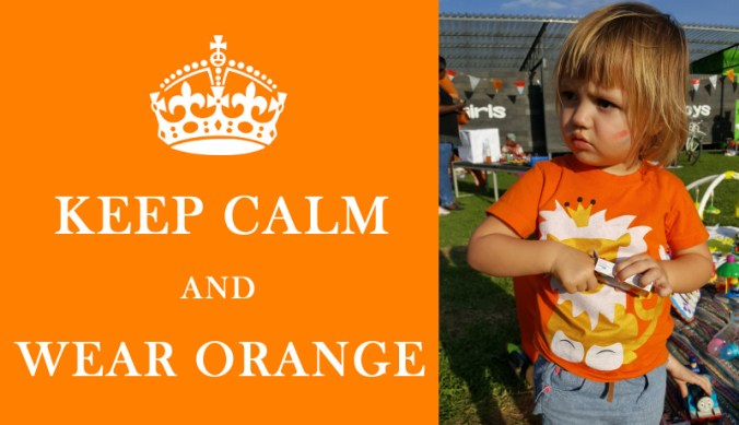 Keep calm and wear orange in Tanzania tijdens Koningsdag