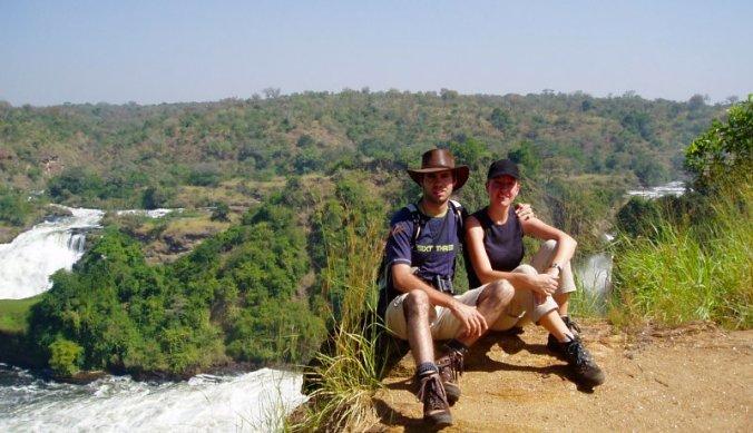 Murchison Falls on Top of the Falls bij de river Nile