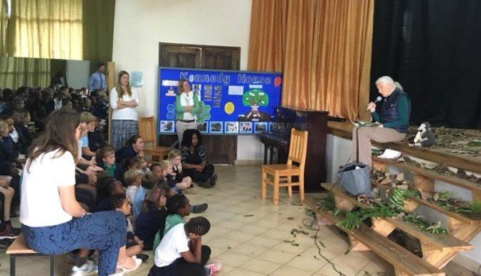 Jane Goodall bij Kennedy House International School