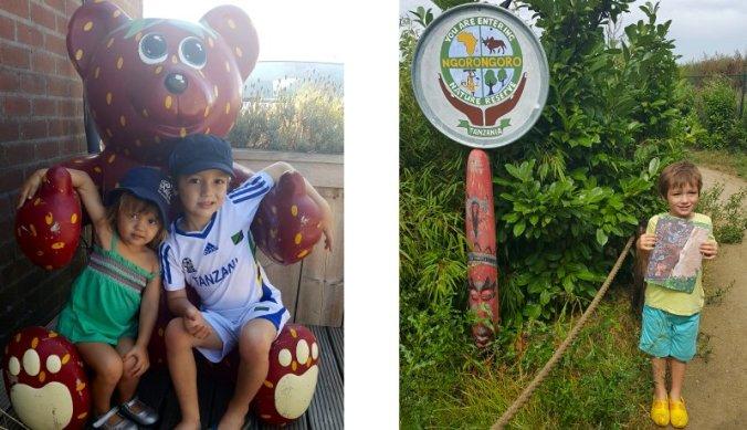 Bij het aardbeienbeertje & in de Ngorongoro in Afrika