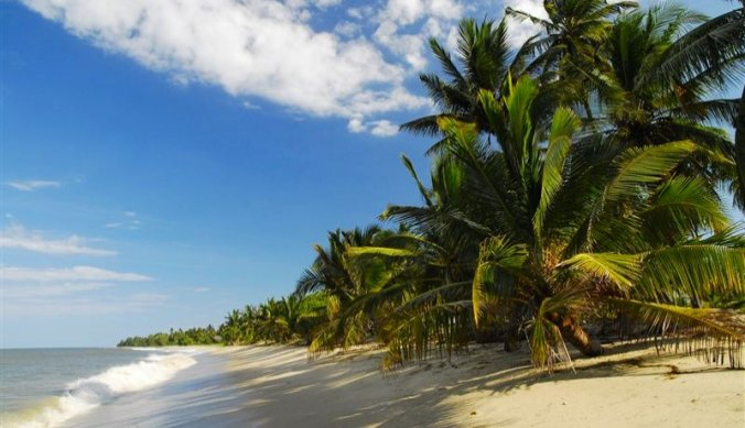 Pangani strand aan de Swahili kust