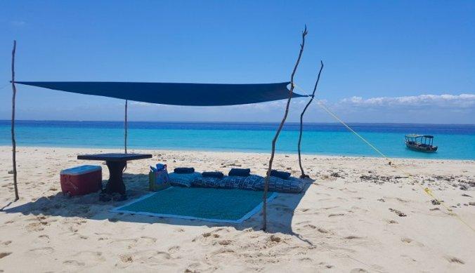 Picknick en snorkelen op Maziwe Island