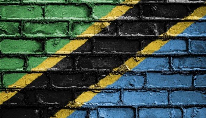 Tanzaniaanse vlag op muur