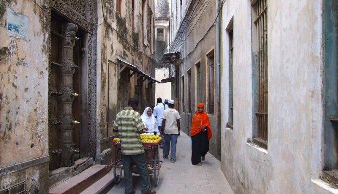 Kronkelende straatjes in Stone Town