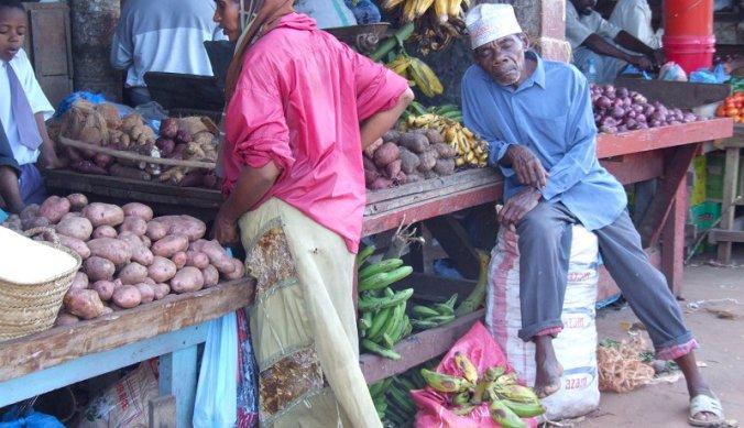 Op de markt in Stone Town Zanzibar