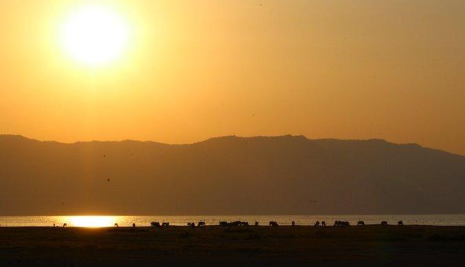 Zonsondergang bij Lake Manyara & Rift Vallei