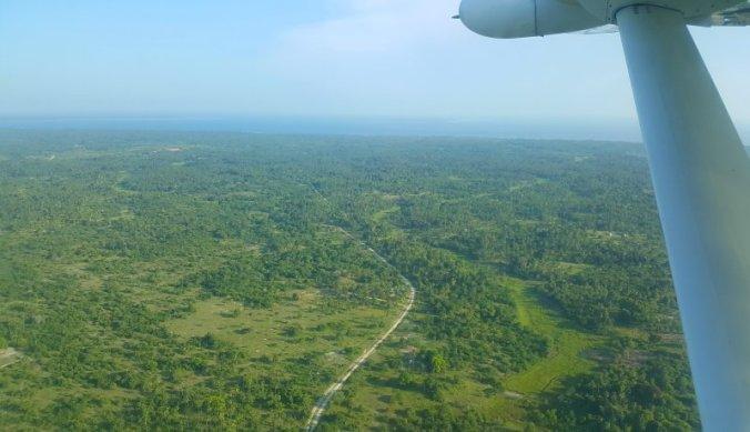 Mafia Island vanuit de lucht