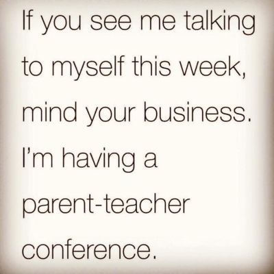 Quote if you see me talking to myself this week