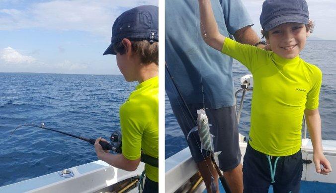 Vissen op zee bij Fish Eagle Point