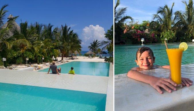 Genieten van zwembad en zee op Zanzibar