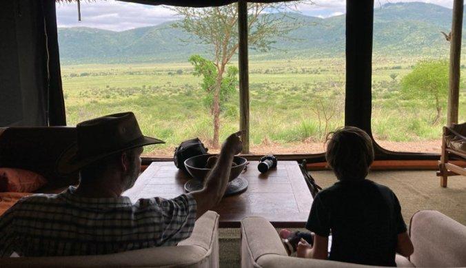 Fenominaal uitzicht vanaf Babu's Camp over Mkomazi National Park