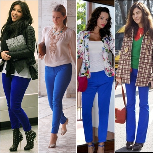 Tren Fashion 2013 - Celana Warna Biru