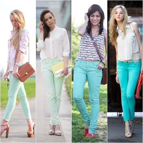 Tren Fashion 2013 - Celana Warna Mint