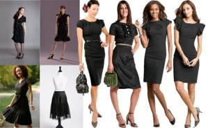 tips mengenakan mini dress hitam