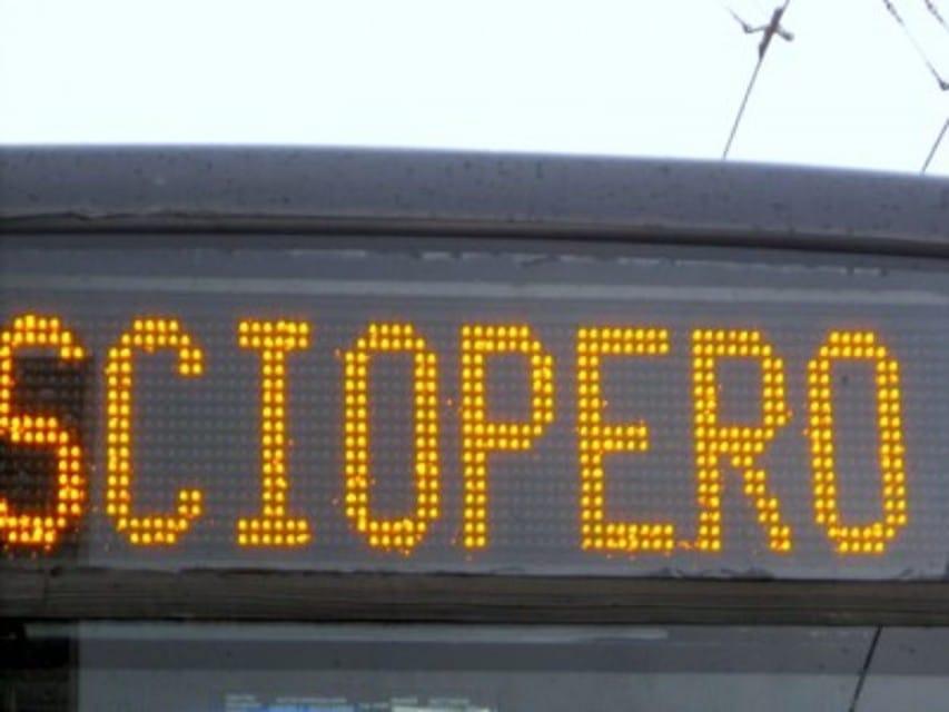Sciopero dei trasporti domani 17 gennaio