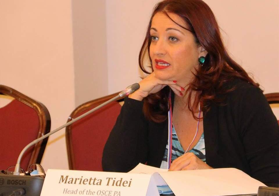 """Piazza Almirante, Marietta Tidei: """"Gesto pericoloso di Grando, se ne assuma la responsabilità"""""""