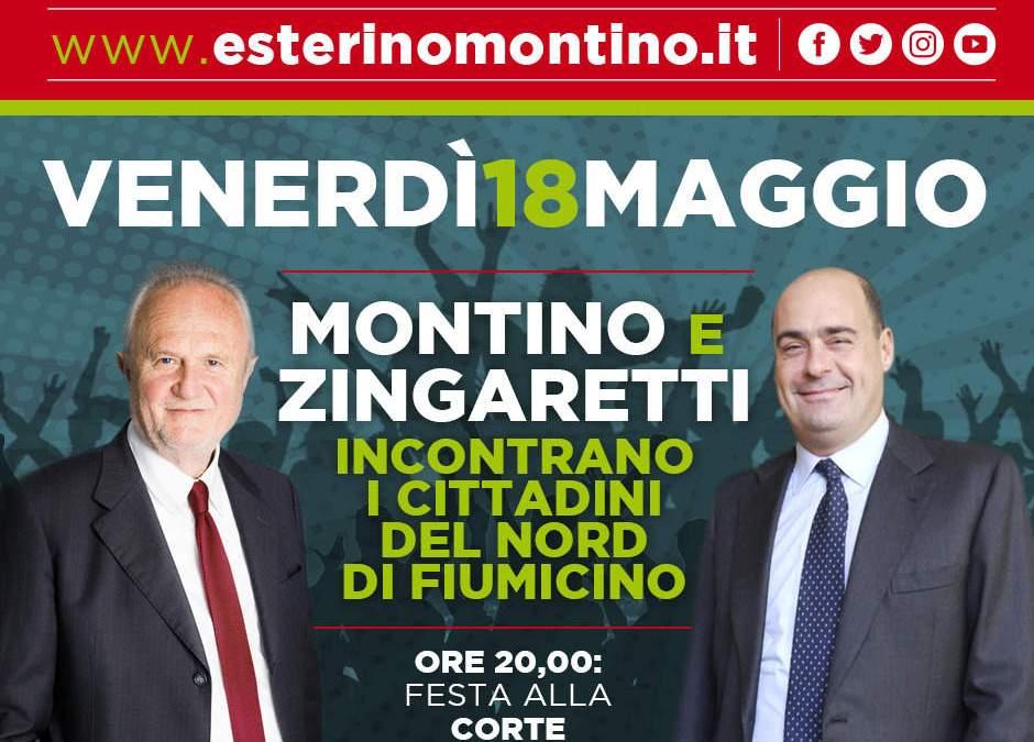 Zingaretti a Fiumicino e lotta alle discriminazioni e lavoro: i prossimi eventi della campagna di Montino