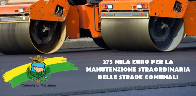 Manziana: 275 mila euro per la manutenzione straordinaria delle strade comunali
