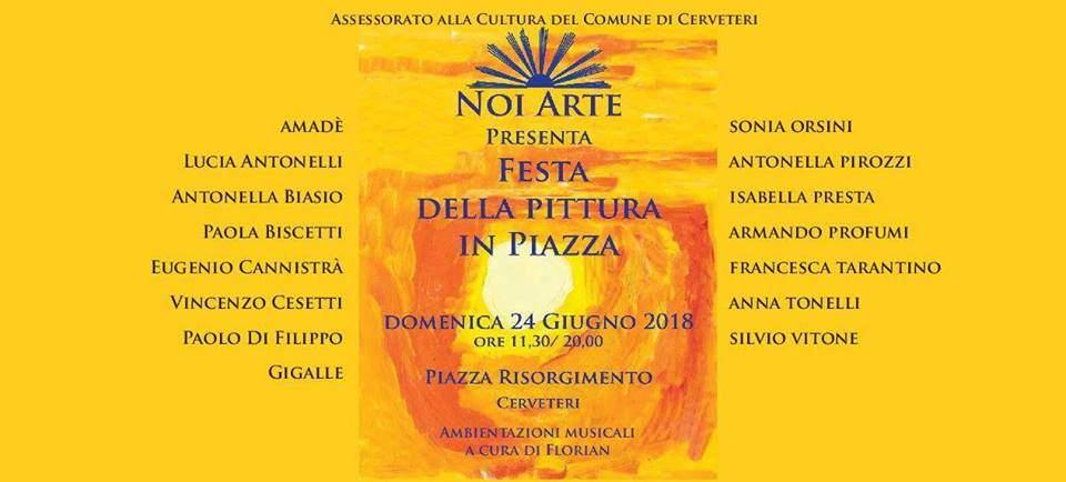 Cerveteri, in Piazza Risorgimento la Festa della Pittura