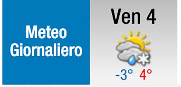 Possibile pioggia mista neve a Bracciano e Manziana