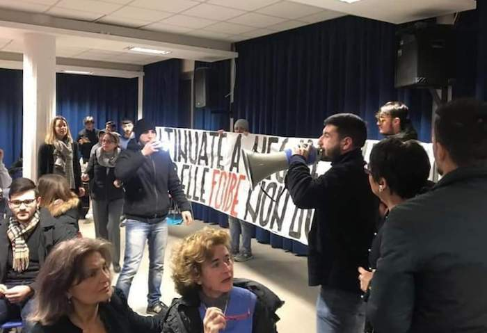 Bufalotta, Blocco Studentesco interrompe conferenza Anpi sulle Foibe