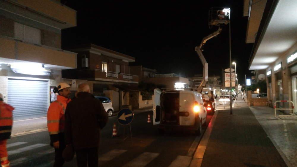 Fiumicino, iniziata la rivoluzione della luce in città
