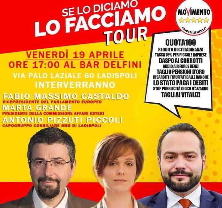 Incontro del M5S Ladispoli con Fabio Massimo Castaldo e Marta Grande
